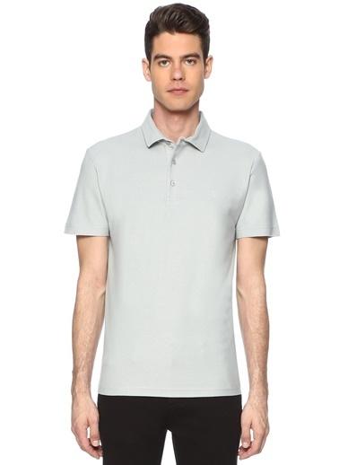 George Hogg George Hogg 7003098 Slım Fit Kısa Kol Gri Tshirt Erkek Tişört Gri